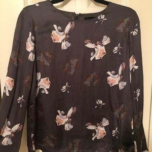 NWT Banana Republic purple floral blouse